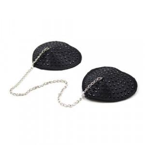 Copricapezzoli heart chain black - 2